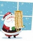 Santa Claus is coming! Come have Pancakes in your PJ's. Benefit New Cancer Center Campaign.