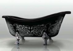 Arabesque hand painted clawfoot tub