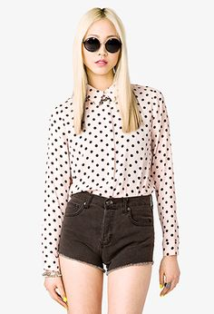 Polka Dot Georgette Shirt | FOREVER 21 - 2027496017