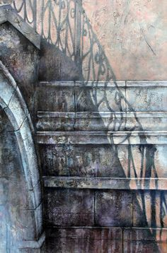 Symphony » Ian Murphy Paintings Building Painting, Building Art, Urban Decay Photography, Art Photography, Architecture Details, Architecture Art, Collages, Art Alevel, Interesting Buildings