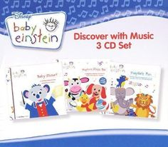 Baby Einstein - Discover with Music (3 CD Set) 56 Songs - Includes Baby Mozart, Playtime Music Box-A Concert for Little Ears, Playdate Fun-A Concert for Little Ears Box set Edition by Baby Einstein (2010) Audio CD   - Click image twice for more info - see a larger selection of little einsteins at http://zkidstoys.com/product-category/little-einsteins/ - baby, kids, nursery, child, nursery, toddler, educational toys, educational book, children book, toddler gift ideas, christmas 2014…