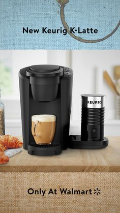Who needs a cafe when you can just coffee-shop at Walmart? The new Keurig K-Latte makes lattes (or regular coffee) in . Latte Coffee Maker, Cappuccino Maker, Coffee Shot, My Coffee, Reusable Coffee Filter, Best Espresso, Espresso Coffee, Only At Walmart, Minimal Kitchen