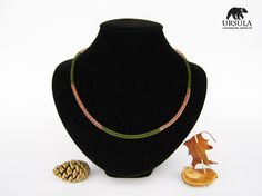 Viking Knit Necklace Autumn Colors Viking by UrsulaChainmaille, $20.00