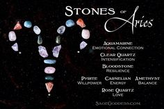 These stones of Aries channel the tenacious, resilient energy of this optimistic Fire sign. Anytime you need a boost of Aries proportions, place these stones on your altar or carry them in your medicine bag wherever you go ♈