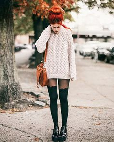 WEBSTA @ luanna90 - Today on le-happy.com  Cozy fall look in a classic wool sweater @sweatershopirl. And yes, Im wearing shorts