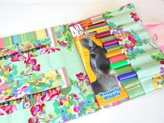 sewing spring fling coloring book crayon tote but this is the one i - Coloring Book And Crayon Holder