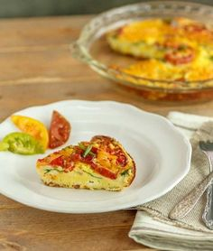 Bacon Ricotta Frittata, Grain free, primal and low carb. #lowcarbfrttata #grainfreebaconfrittata