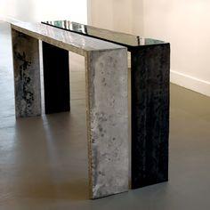 Concrete table by Jan Jander + http://www.janjanderad.com