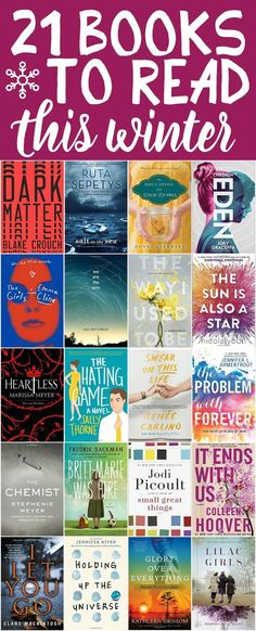 21 of the best books to read this winter! Everything from young adult and teen lit to mystery and fantasy fiction for women. This list hits everything from new classics to bestselling authors and even funny book recommendations. Definitely adding a bunch Best Books To Read, I Love Books, Ya Books, Good Books, Books To Read In Your Teens, Fiction Books To Read, Best Books For Teens, I Love Reading, Reading Lists