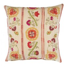 45 45 Suzani Cushion - Wheat