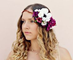 Josephine - romantic flower crown, floral fascinator by WhimsyDo