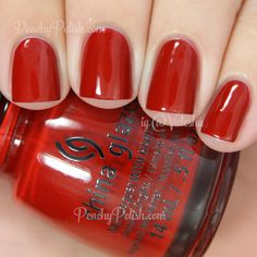 China Glaze Seeing Red   The Giver Collection   Peachy Polish - this is gorgeous