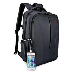 Just US$29.99, buy Tigernu T - B3220 Anti-theft Backpack USB Port 25L Laptop Bag online shopping at GearBest.com Mobile.