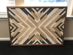 Excited to showcase our custom designed wood art. What do you think? My husband and I handcraft custom wood furniture and art with quality as if it were for our own home.  Check out more from our Etsy shop OAKandSHIELDco #etsy #design #designinspiration #designinterior #designideas #businessminded  #woodworking