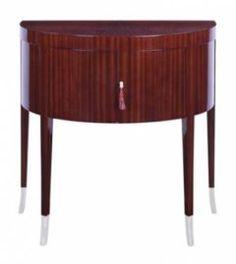 J Robert Scott_timothy demi lune cabinet Robert Scott, Sideboard Cabinet, Industrial Design, Home Furnishings, Luxury Homes, Interior Design, Table, Furniture, Cabinets
