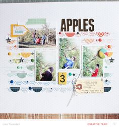 #papercraft #scrapbook #layout   apples | color theory inks by gluestickgirl at @Studio_Calico