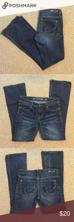 Express jeans Express jeans dark wash in very good condition. Express Jeans Boot Cut