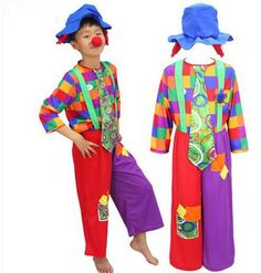 93a6bf72d0091 Click to Buy    personalized clown halloween costume rainbow clown costume  for children