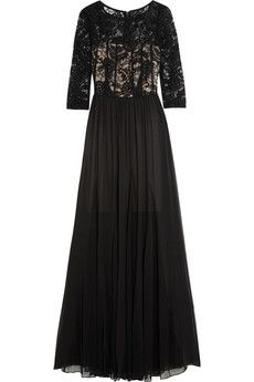 Alice   Olivia Robinson sequined lace and silk-georgette gown | THE OUTNET