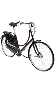 Old Dutch Bicycle In Havane Clemence Leather by Heritage Auctions Special Collection for Preorder on Moda Operandi
