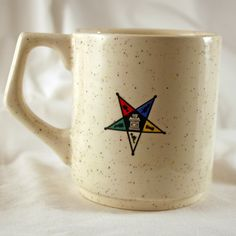 Eastern Star Mug - White. $7.00, via Etsy.