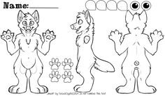First things first, you're going to need a fursuit reference sheet of your character. This includes a front, side, and back view of your character so your maker knows exactly what goes where. You can... Wolf Fursuit, Wolf Base, Drawing Templates, Creature Drawings, Furry Drawing, Anthro Furry, Art Base, Creative Logo, Tutorials