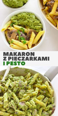 Going Vegetarian, Vegetarian Recipes, Healthy Recipes, Pesto, Spaghetti, Easy Meals, Food And Drink, Dinner, Cooking