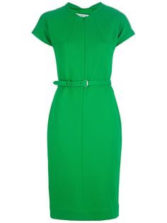 DIANE VON FURSTENBERG  kelly green Maizah dress. Very Joan from Mad Men. with some blue suede pumps and a blue clutch this would be thee BOMB!