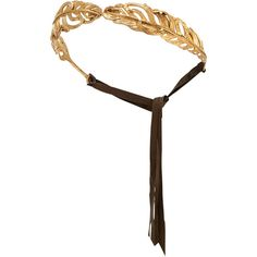Madina Visconti di Modrone Golden Feather Headband (16.730 ARS) ❤ liked on Polyvore featuring jewelry, brooches, hair, accessories, headband, hair accessories, hats, gold, feather brooch and golden jewelry