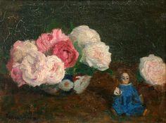 Karoly-Ferenczy   Roses-avec-poupée-bleue