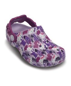 Lavender & Viola Classic Hello Kitty Forest Clog - Kids on zulily