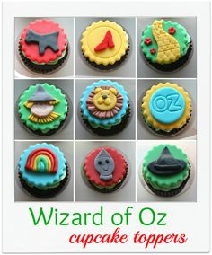 Wizard of Oz Party via:craftiness is not optional: Wizard of Oz cupcake toppers