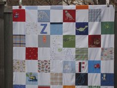 2nd quilt top made from baby clothes