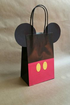 Mickey Mouse inspired party favor bags 12 pack by FifteenSixteen Mickey Mouse Party Favors, Mickey E Minnie Mouse, Fiesta Mickey Mouse, Mickey Party, Mickey Mouse Clubhouse, Elmo Party, Dinosaur Party, Dinosaur Birthday, Mickey Birthday