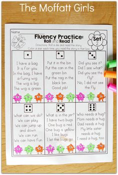 Fluency Practice! Roll a die and READ a SHORT STORY! Great way to build FLUENCY and confidence!