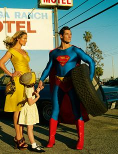 """""""Supermom"""": Carolyn Murphy and David Gandy Play Lois Lane and Superman for Mario Testino for US Vogue Mario Testino, Grace Coddington, David Gandy, Anna Wintour, Vanity Fair, Fashion Shoot, Editorial Fashion, Vogue Editorial, Fashion Pics"""