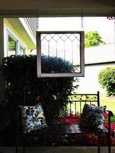 old leaded window