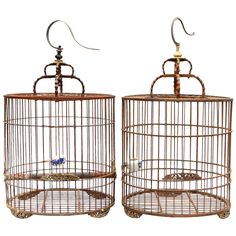 Pair of Antique Chinese Birdcages  | 1stdibs.com