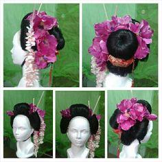 geisha wig Geisha, Wigs, Crown, Jewelry, Hair Wigs, Jewellery Making, Jewelery, Jewlery, Jewels
