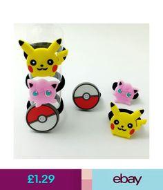 Girls' Accessories 1 Pair Kid Teen Girl Pikachu Pokemon Ballelastic Rubber Hairbands Ponytail Bobbl #ebay #Fashion