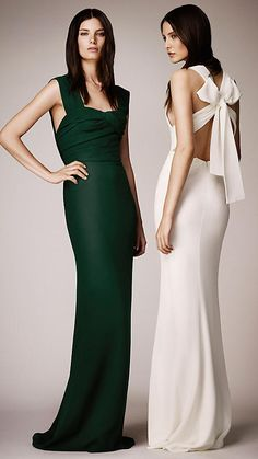 Wrapped Bodice Evening Gown | Burberry