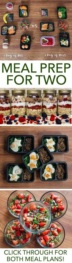 Meal prep is more fun when you have a partner in the kitchen. Make this week extra special with this meal prep plan for two. // meal prep mondays // meal planning // healthy foods // couples // relationships // valentine (Shed Plans 30 Diet) Healthy Meal Prep, Healthy Snacks, Healthy Eating, Clean Eating, Healthy Drinks, Healthy Skin, Meal Prep Plans, Diet Meal Plans, Food Prep