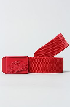 The Conductor Web Belt in Red by Vans