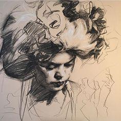 Charcoal drawing by alumna Teresa Oaxaca (@teresaoaxaca)…