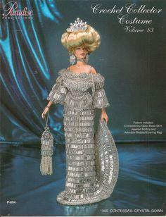 141. Barbie fashion doll dress-crochet pattern in pdf by Vandihand on Etsy