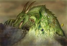 Dragon of ground and nature by VixenDra.deviantart.com on @DeviantArt