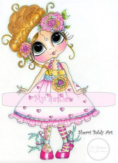 Sherri Baldy Besties | ... Sweet Marylou Fine Art Print-My Besties, Messy Bessy, Sherri Baldy