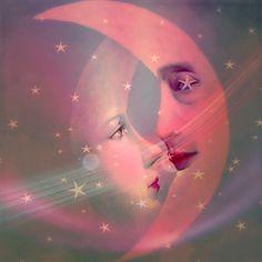 Sun Moon Stars, Sun And Stars, Cresent Moon, Moon Dance, Moon Shadow, Moon Illustration, Moon Pictures, Paper Moon, Good Night Moon