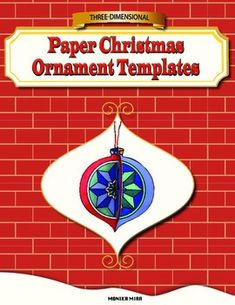 Inside there are two different ornament templates that you can use in your class to design your own three-dimensional Christmas Ornaments. Each page has four copies of each ornament, so that you can make them into 3-D pop-up art.There is also an instruction page to assemble the ornaments, and another instruction page for designing ornaments.This free template has been excerpted from the Three-Dimensional Christmas Ornament Coloring and Paper Craft Activity also available in my store.