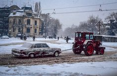 Bucuresti (Romania) - winter 1992-93 - Photo : Renaud Cornu-Emieux